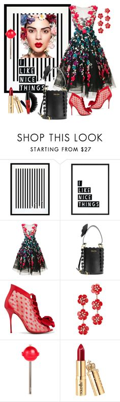 """""""I Like Nice Things!🌹"""" by sherrysrosecottage-1 ❤ liked on Polyvore featuring Eleanor Stuart, Marchesa, Miu Miu, Sophia Webster, Jennifer Behr, Favorite, flowerpower and fashionset"""