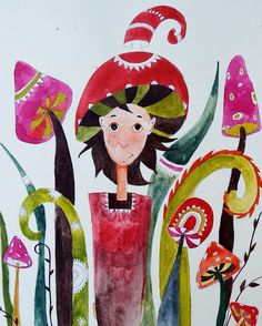 Children's Book Illustration, Watercolor Illustration, Illustrations, Stuffed Mushrooms, Christmas Ornaments, Holiday Decor, Instagram Posts, Painting, Google