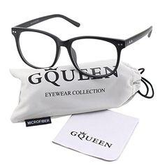 cf44e35256a Glasses Queen 201581 Large Oversized Frame Horn Rimmed Clear Lens  GlassesMatte Black     See