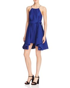 C/MEO Collective Two Can Win Fit-and-Flare Belted Dress