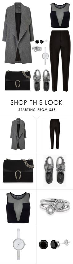 """Saturday night look"" by sneakergirly ❤ liked on Polyvore featuring Miss Selfridge, Jaeger, Gucci, Max&Co., Varley, Shoreditch and DKNY"