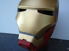 Picture of Gold Paint, Weathering and Clear Coat Spray Paint Cans, Gold Spray Paint, Red Paint, Iron Man Helmet, Painters Tape, Foam Crafts, Masking Tape, Chevrolet Logo, Projects To Try