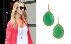 STACY KEIBLER  Stacy Keibler stepped out in NYC in her Serenity Stone Drops in jade.