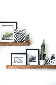 Diy Home : Hey Friends! Free palm printable photos are here today so you can print away an. Home Living Room, Living Room Decor, Bedroom Decor, Cheap Home Decor, Diy Home Decor, Diy Wall, Wall Decor, Cactus Wall Art, Ship Lap Walls