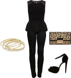 """Black on Black on Black"" by dyanna85 on Polyvore"