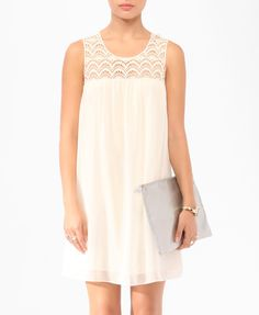Shift (Crochet Trim Shift Dress | FOREVER21 - 2000048053)