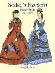 Godey's Fashions Paper Dolls Girls Tea Party Reusable Activity Set