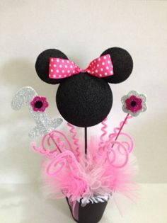 centerpiece | minnie mouse birthday