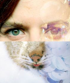 Rita Cordeiro & Lince Portrait by Margarida Girão, photo collage. Collages, Collage Art, Photomontage, Fine Art Photography, Portrait Photography, Different Colored Eyes, Found Art, Art Techniques, Illustration Art