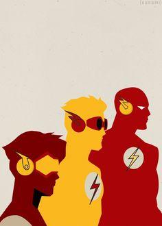 Flash, Kid Flash and Impluse
