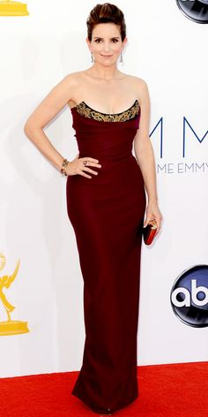 Look of the Day - September 23, 2012 - Tina Fey in Vivienne Westwood from #InStyle