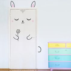 Hooray for Anni the Sleepy Bunny, the cutest door decoration ever! She loves flowers, naps and the combination of both. You can arrange all the