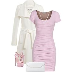 Pink & White by majezy on Polyvore featuring Velvet by Graham & Spencer and Miss Selfridge