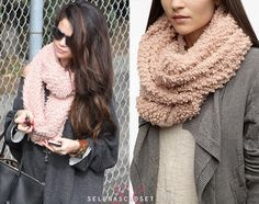 Our resident scarf lover Selena Gomez has been sporting this Cooperative Boucle Eternity Scarf a lot lately, most recently yesterday when she was spotted entering a studio in LA. We finally tracked it down at Urban Outfitters for $34.  Buy it HERE  Thanksaurora-fallsandcouronnes!  She wore it with an Akira sweater, Free People Necklace, Steve Madden Boots and Dolce & Gabbana bag.