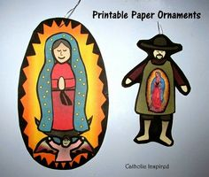 O.L. of Guadalupe and St. Juan Printable Craft Set {Plus, Liturgical Ornament Patterns} - Catholic Inspired