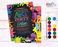 Art Paint Party Invitation: Printable Art by thepartystork on Etsy