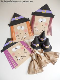 Witches made out of envelopes!!