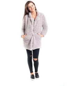 Womens Poncho Slenderella Wrap Mongolian Faux Fur Coat Cardigan Ladies Jacket