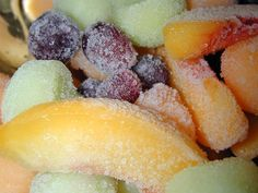 Frozen fruit...one of my favorite snacks!  Love. It.  Seriously, I could just keep typing about this stuff...