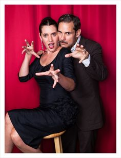 THIS MAKES ME IN LOVE WITH THE WORLD! Paget Brewster & Paul F. Tompkins, Photographed by Matt Harbicht.
