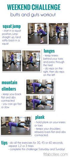 Butt & Stomach Workout