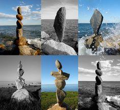 Find your balance...Greenwich Point Rocks by Joel Dawson