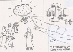 Lehi's Dream drawing - from Grandma Music's LDS Resources
