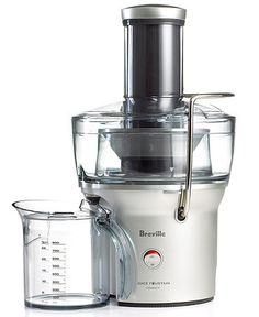 BoolPool Rating: Excellent (4.50 stars), Price: $94  The Breville BJE200XL Juice Fountain is packed with power, providing heavy-duty performance in a space-saving design. The 700 watt fast and powerful motor operates at 14,000 RPM for maximum extraction of 250 ml (8 oz) of juice in mere 5 seconds.  Read full summary of user reviews for Breville BJE200XL Compact Juice Fountain 700-Watt Juice Extractor receiving 4.50 stars from 2309 reviews.