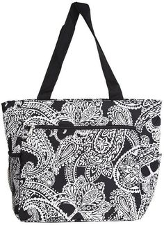 World Traveler Paisley Travel Tote Bag, Black and White -- Details can be found  : Christmas Luggage and Travel Gear