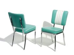 Bel Air Retro Furniture Diner Chair - CO24 in Turquoise. Lawton Imports, £220 or $344