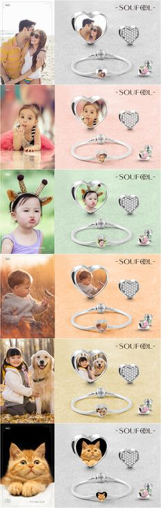 Personalize a charm set in Swarovski crystal with one of your treasure photos. Inspired gift for everyone you love!