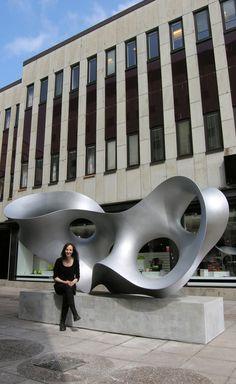 Sculpture in aluminium, Eva Hild, 400 x 200 cm. Placed in Borås Sweden 2010