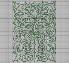 Green Man Cross Stitch Pattern