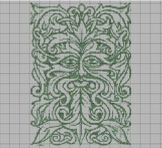 Green Man Cross Stitch Pattern