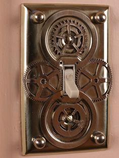 interrupteur steampunk