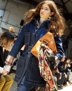DENIM DREAMS: Today in Paris @acnestudios introduced a fresh take on the city slicker wardrobe for #FW18 - we loved the brands focus on double denim waxed jackets and plaid prints topped off with structured hats and long flowing scarves. via NET-A-PORTER MAGAZINE official Instagram - #Beauty and #Fashion Inspiration - Beautiful #Dresses and #Shoes - Celebrities and Pop Culture - Latest Sales and Style News - Designer Handbags and Accessories - International Advertising Campaigns - Gifts and…