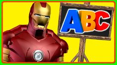 Ironman ABC Rhymes for Children | Alphabets ABC Songs for Kids to Learn ...
