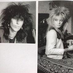 "Picture of Sami Yaffa and Michael Monroe 🌟 Photobook ""Hanoi Rocks '82 - '84"" by Justin Thomas 🌟 Cute guys 🎵😍🌟❤️"
