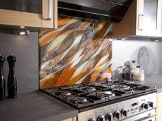 Más tamaños | Orange Wave Fused Glass Splashback | Flickr: ¡Intercambio de fotos!