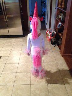 Homemade unicorn costume for girl