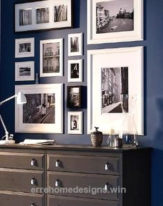 Look Over This Gallery Style Artwork Arrangement – Neat way to view many photos in a small space. The post Gallery Style Artwork Arrangement – Neat way to view many photos in ..