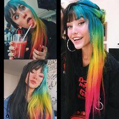 Pin by Devin Watson on Hair ❤ in 2019 Pin by Devin Watson on Hair ❤ in 2019 Hair Dye Colors, Cool Hair Color, Half And Half Hair, Half Colored Hair, Split Dyed Hair, Arctic Fox Hair Color, Aesthetic Hair, Grunge Hair, Rainbow Hair