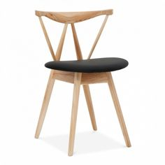 Cult Living Kite Natural Wood Chair With Soft Pad PU Seat
