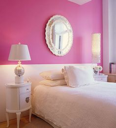 Image detail for -Beautiful Pink Bedroom Interior Design – Homivo Pink Bedroom Design, Pink Bedroom Decor, Pink Bedrooms, Bedroom Ideas, Rose Bedroom, Teen Bedroom, White Wall Bedroom, Mirror Bedroom, Pink Room
