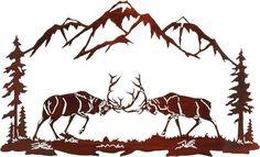 """Laser Cut Steel ~ 36"""" Elk in Rut Challenge - Art & Home"""
