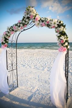 Beach wedding wedding inspiration  Keywords:  #beachweddingarbor #altars #beachweddinginspirationandideas #jevelweddingplanning Follow Us: www.jevelweddingplanning.com  www.facebook.com/jevelweddingplanning/