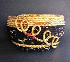 Sun Spiral large fabric basket by JKTextileArts on Etsy Rope Basket, Basket Bag, Basket Weaving, Sisal, Fabric Bowls, Rope Art, Clothes Basket, Rope Crafts, Fabric Scraps