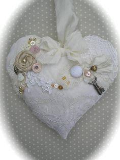 **Victorian Heart Christmas Ornament OR Lavender Sachet