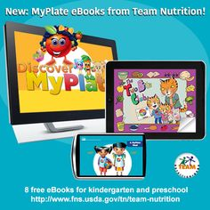 New #MyPlate #eBooks! Free eBooks for #preschool & #kindergarten! #literacy #nutrition #nutritioned