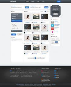 Behance.net – Redesign Concept
